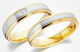 gold platinum wedding rings